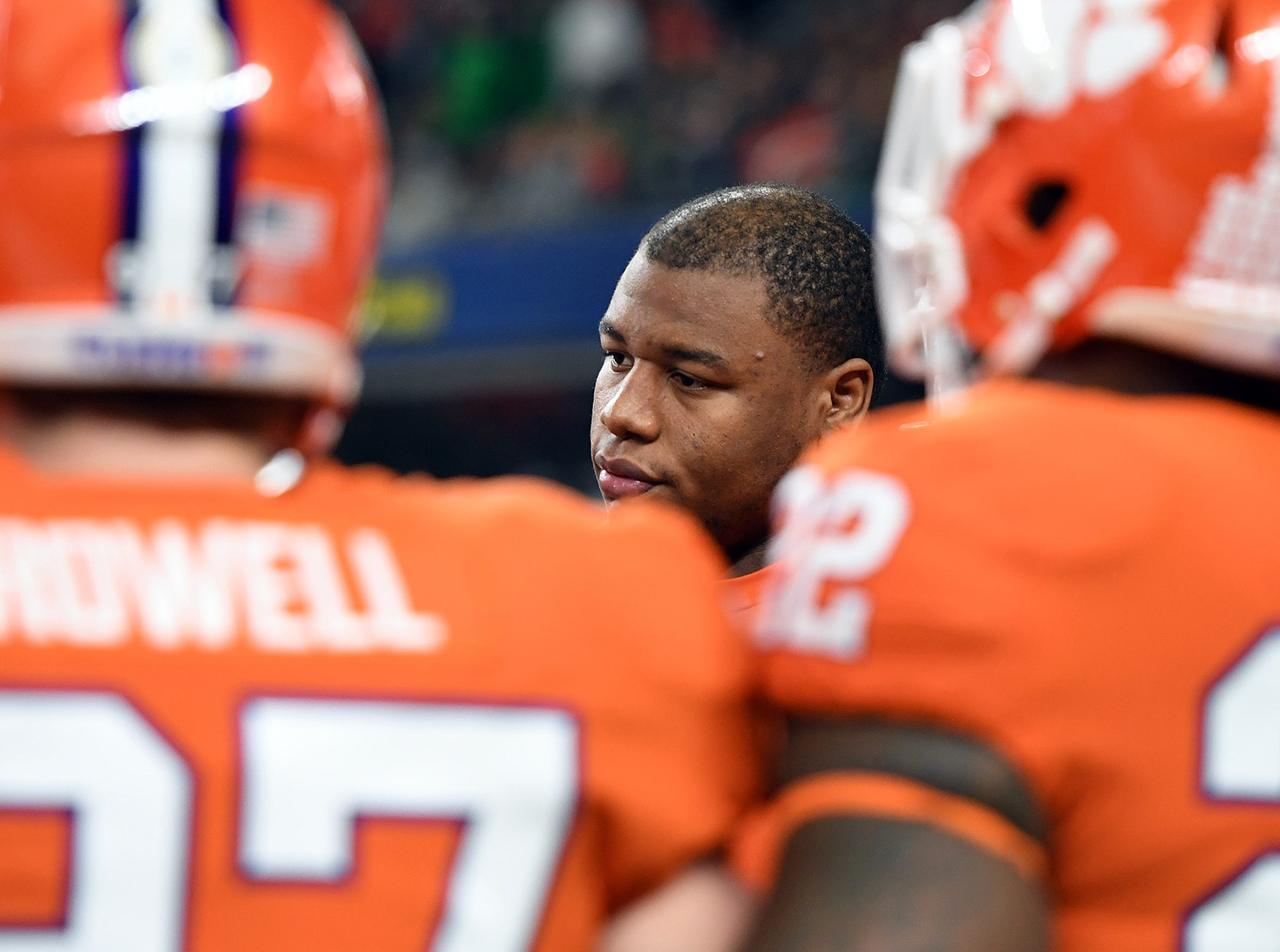 Clemson defensive lineman Dexter Lawrence during pregame of the Goodyear Cotton Bowl at AT&T stadium in Arlington, TX Saturday, December 29, 2018.
