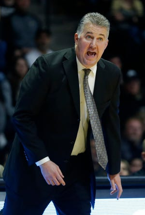 Purdue head coach Matt Painter shouts instructions to the Boilermakers as they get back on defense against Belmont Saturday, December 29, 2018, at Mackey Arena. Purdue defeated Belmont 73-62.