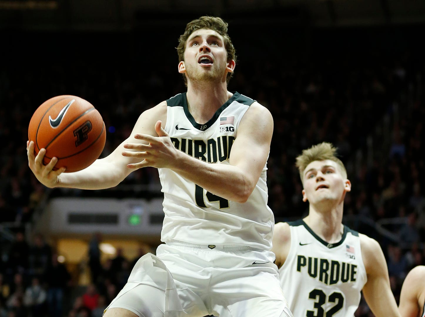 Ryan Cline of Purdue gets free for a layup against Belmont Saturday, December 29, 2018, at Mackey Arena. Purdue defeated Belmont 73-62.