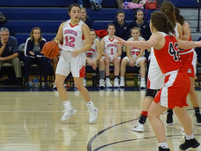 Fairfield Christian Academy senior guard Celeste Mershimer scored 26 points, had 12 assists and nine rebounds to help lead the Knights to a 66-64 win over Jonathan Alder on Saturday in the Teays Valley Holiday Classic.