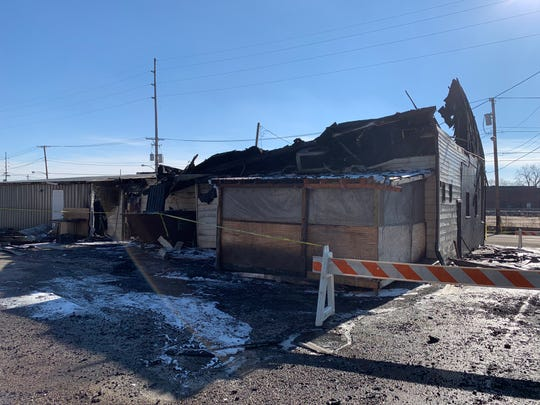 The rear of a building which was home to Mansfield bar, Comfort Zone 419, following a fire December 30, 2018.