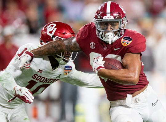 Alabama tight end Irv Smith Jr. (82) in first half action of the Orange Bowl at Hard Rock Stadium in Miami Gardens, Fla., on Saturday December 29, 2018.