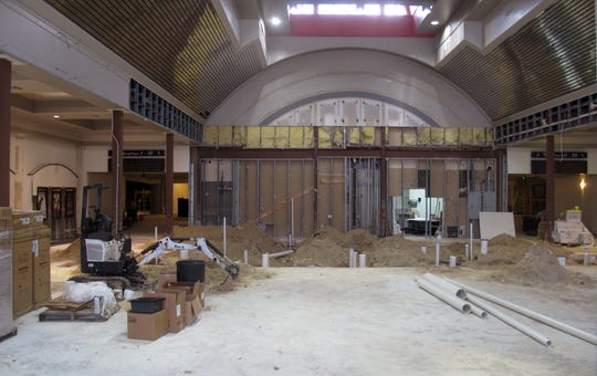 Extensive renovation work was still being done at the end of 2018 in the lobby of Hollywood 20 cinema in North Naples. Regal Entertainment Group now reports that the local theater will reopen in the early second quarter of 2019.