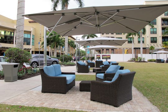 In addition to other changes at Mercato in North Naples, shaded outdoor seating areas were recently added to a few places in the mixed-use center in North Naples.