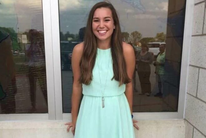 Authorities said University of Iowa student Mollie Tibbetts, 20, was found dead about a month after she went missing in Brooklyn, Iowa, on July 18.