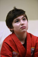 Mario Del Vecchio (age 10) of Midland Park student, is seen during an interview at their shooting location in North Haledon on 12/30/18.