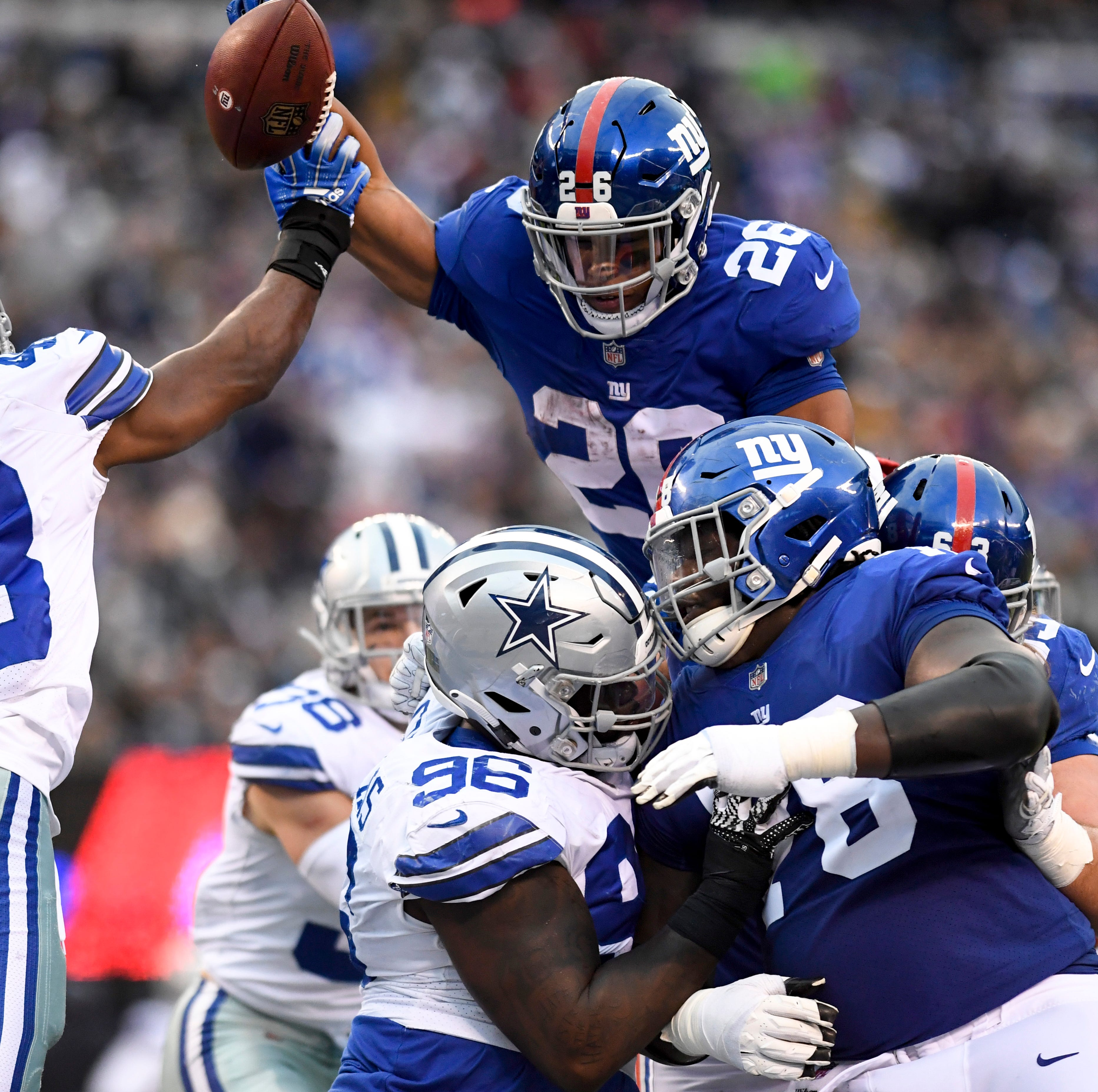 NY Giants running back Saquon Barkley wins PFWA Offensive Rookie of the Year