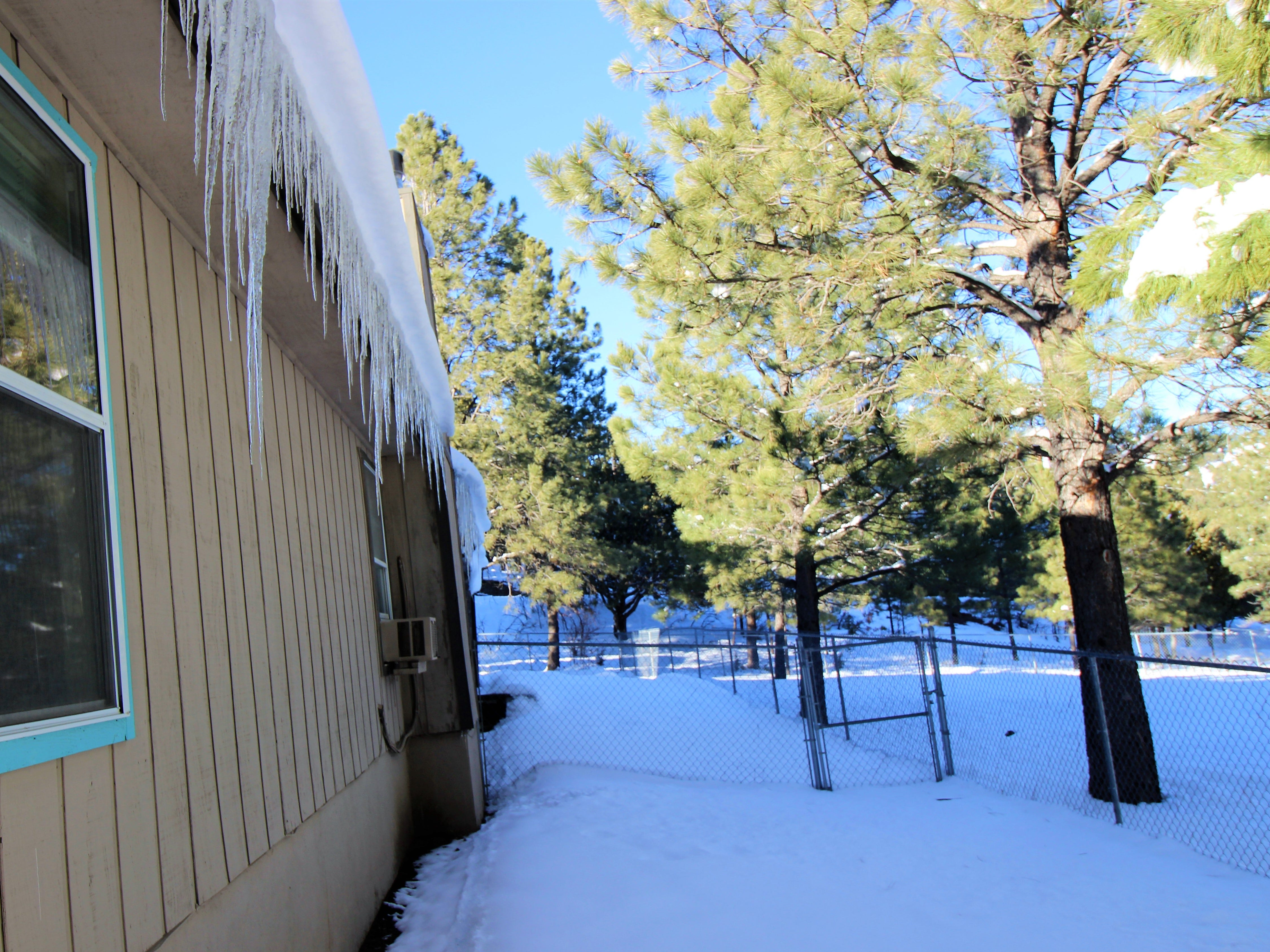 The snow is melting and icicles are forming all over Ruidoso.