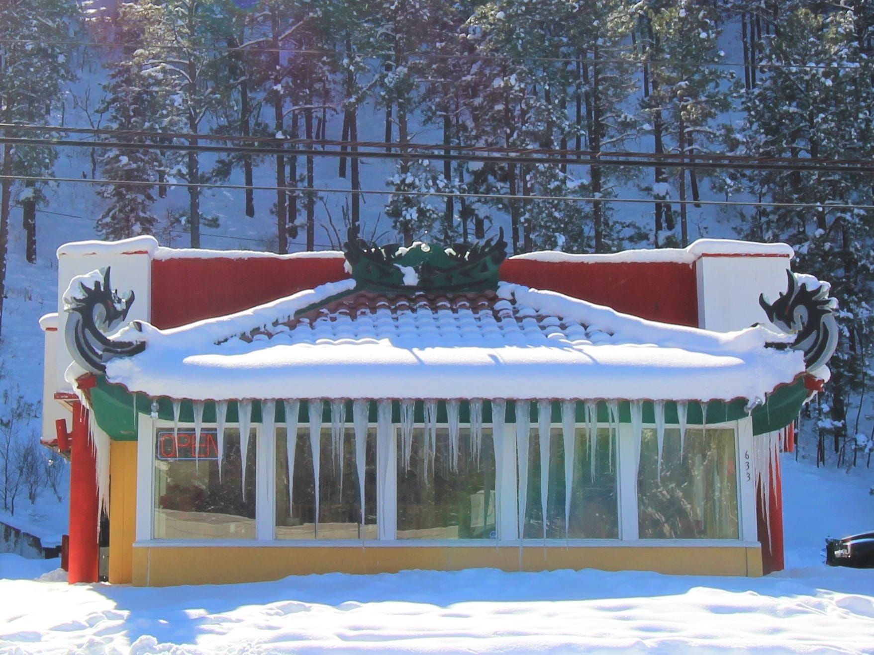 Icicles form throughout Ruidoso making the winter wonderland even more spectacular.