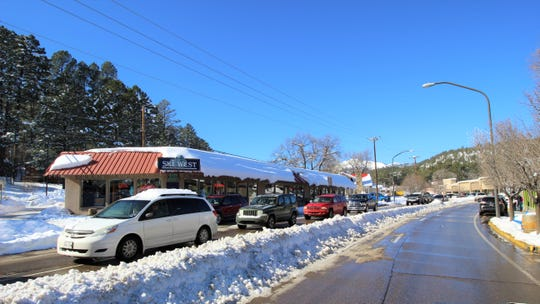 No snow storm can stop visitors from traveling on icy roads to get to midtown Ruidoso.