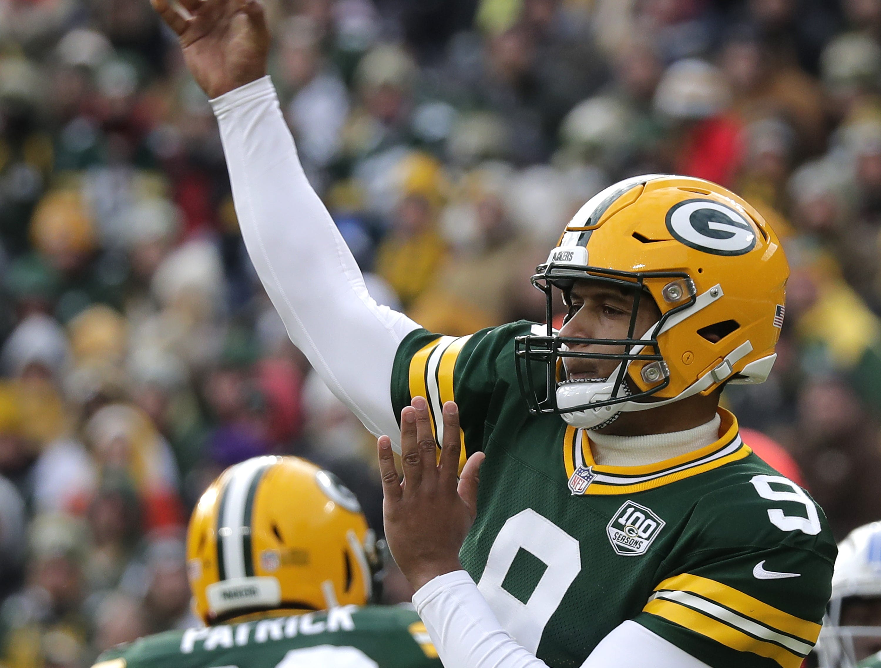 Green Bay Packers quarterback DeShone Kizer the Detroit Lions during their football game on Sunday, December 30, 2018, at Lambeau Field in Green Bay, Wis. Detroit defeated Green Bay 31 to 0. Wm. Glasheen/USA TODAY NETWORK-Wisconsin.