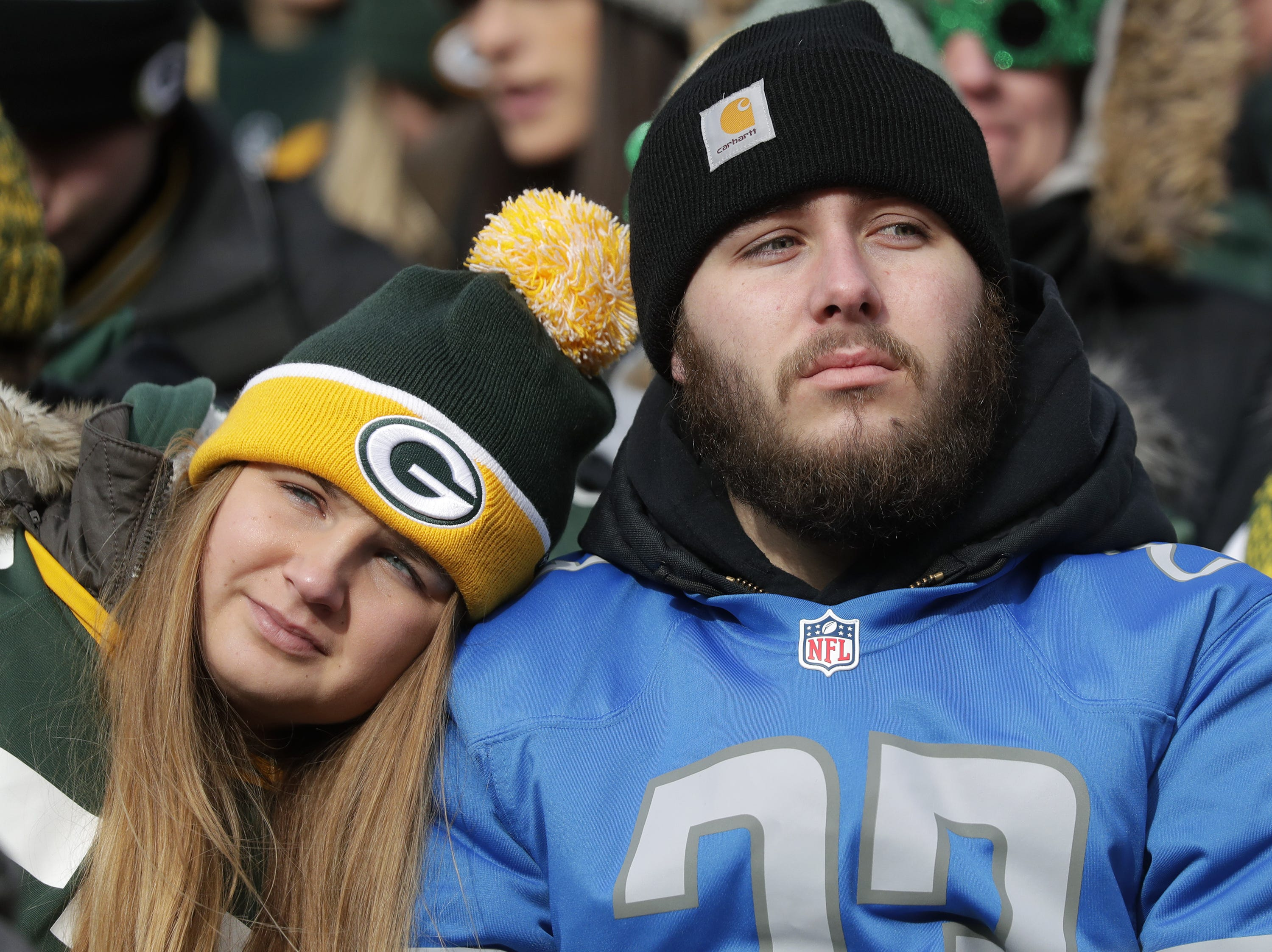 The Green Bay Packers take on the Detroit Lions during their football game on Sunday, December 30, 2018, at Lambeau Field in Green Bay, Wis. Detroit defeated Green Bay 31 to 0. Wm. Glasheen/USA TODAY NETWORK-Wisconsin.