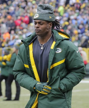 Green Bay Packers wide receiver Davante Adams (17) enters the field at the start of the game Sunday, December 30, 2018, at Lambeau Field in Green Bay, Wis. He was inactive. Dan Powers/USA TODAY NETWORK-Wisconsin