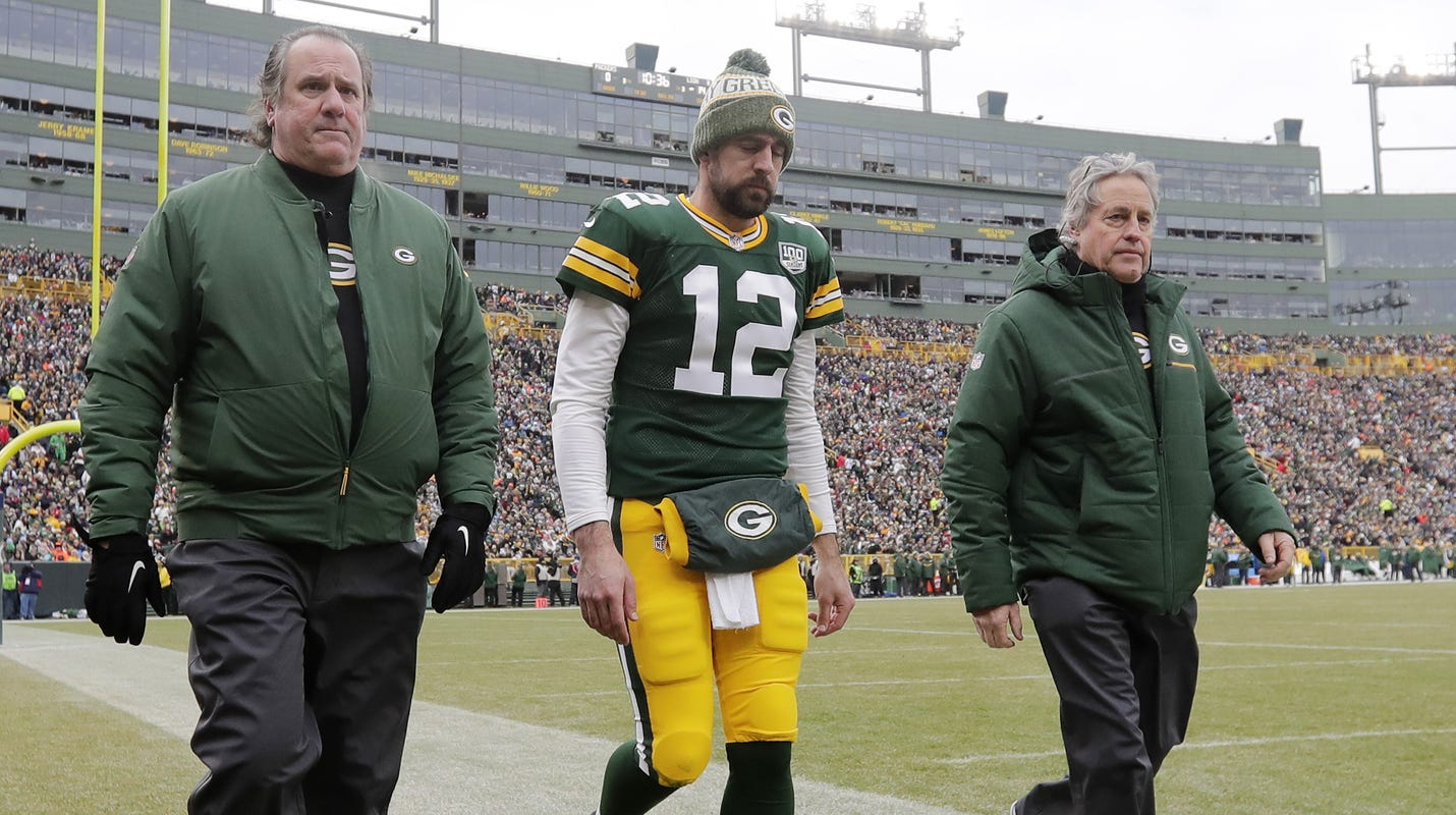 a6e790f4ac8 Aaron Rodgers suffers concussion against Lions