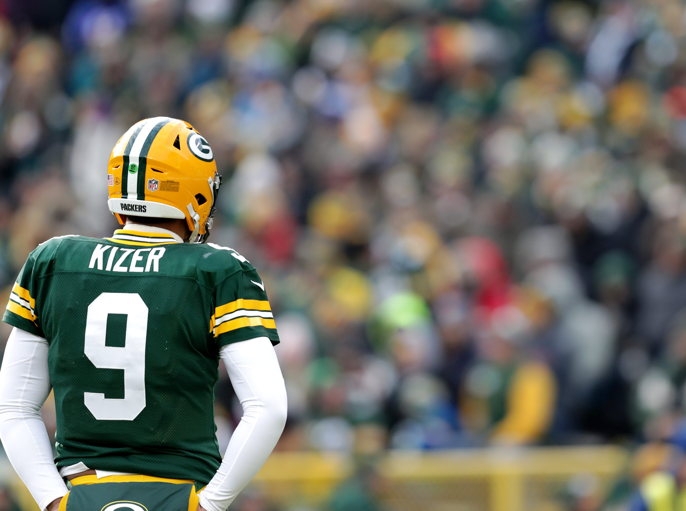 Green Bay Packers quarterback DeShone Kizer against the Detroit Lions during their football game on Sunday, December 30, 2018, at Lambeau Field in Green Bay, Wis. Detroit defeated Green Bay 31 to 0 Wm. Glasheen/USA TODAY NETWORK-Wisconsin.
