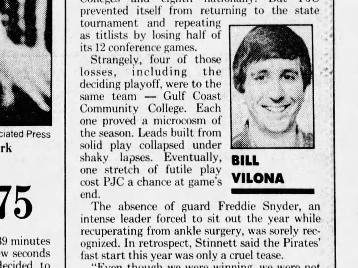 Pensacola News Journal sports columnist Bill Vilona's first PNJ column ran on Sunday, Feb. 22, 1987. Scroll through for a look at what he thought were the top Pensacola sports stories he covered over the last 30 years.