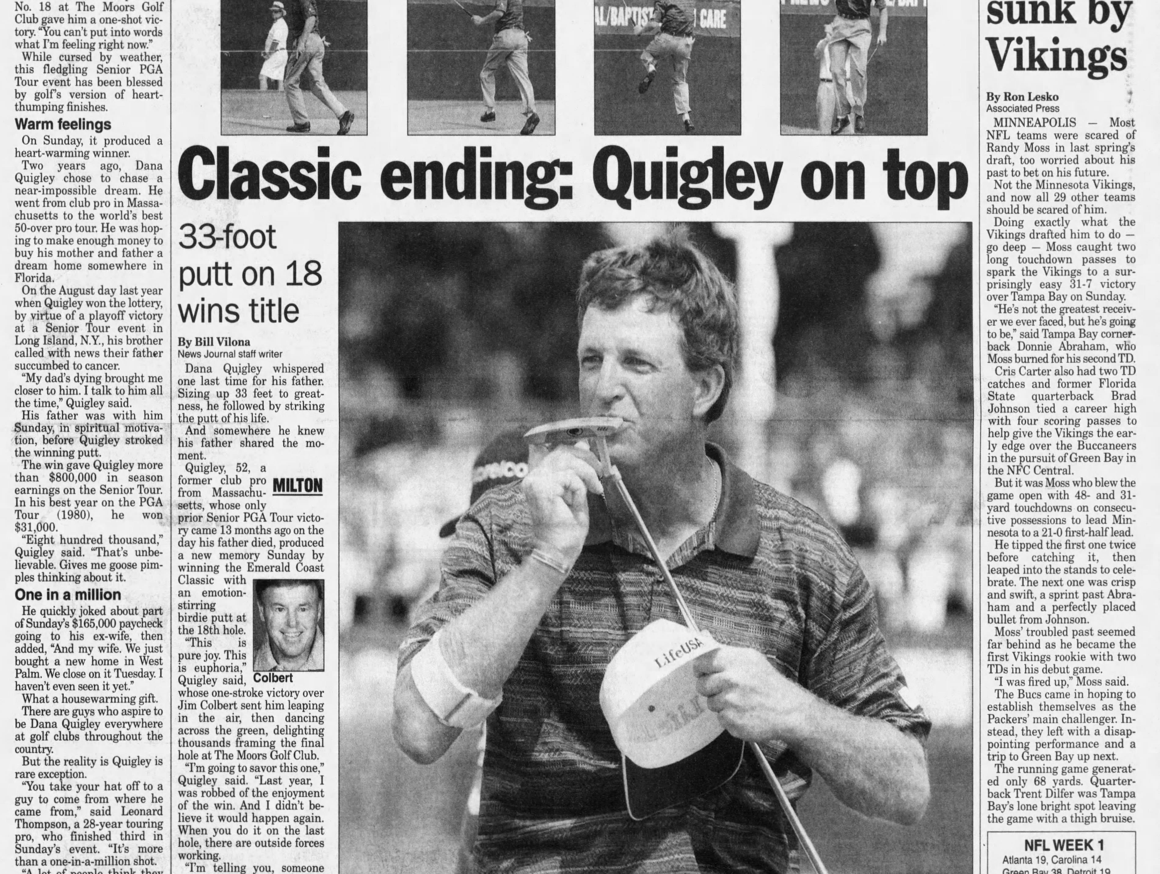 Sept. 1998: Arnold Palmer, Lee Trevino, Jerry Pate play in Pensacola's Emerald Coast Classic.