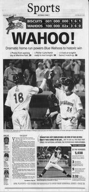 April 2012: Pensacola Blue Wahoos debut as AA franchise.