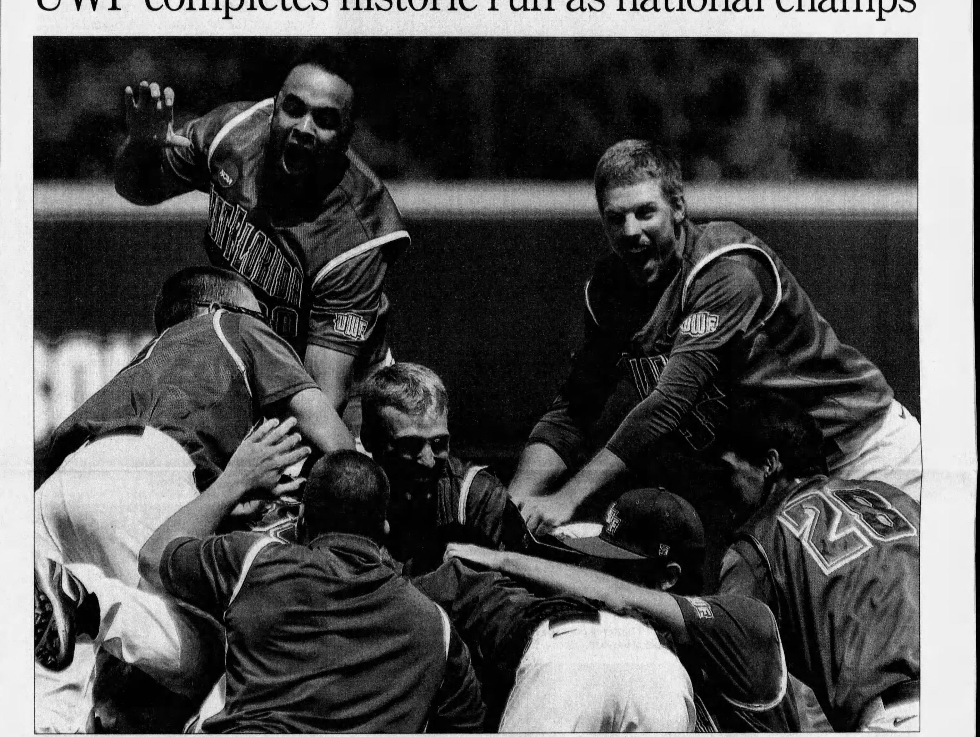 May/June 2011: UWF baseball wins NCAA D2 national championship.