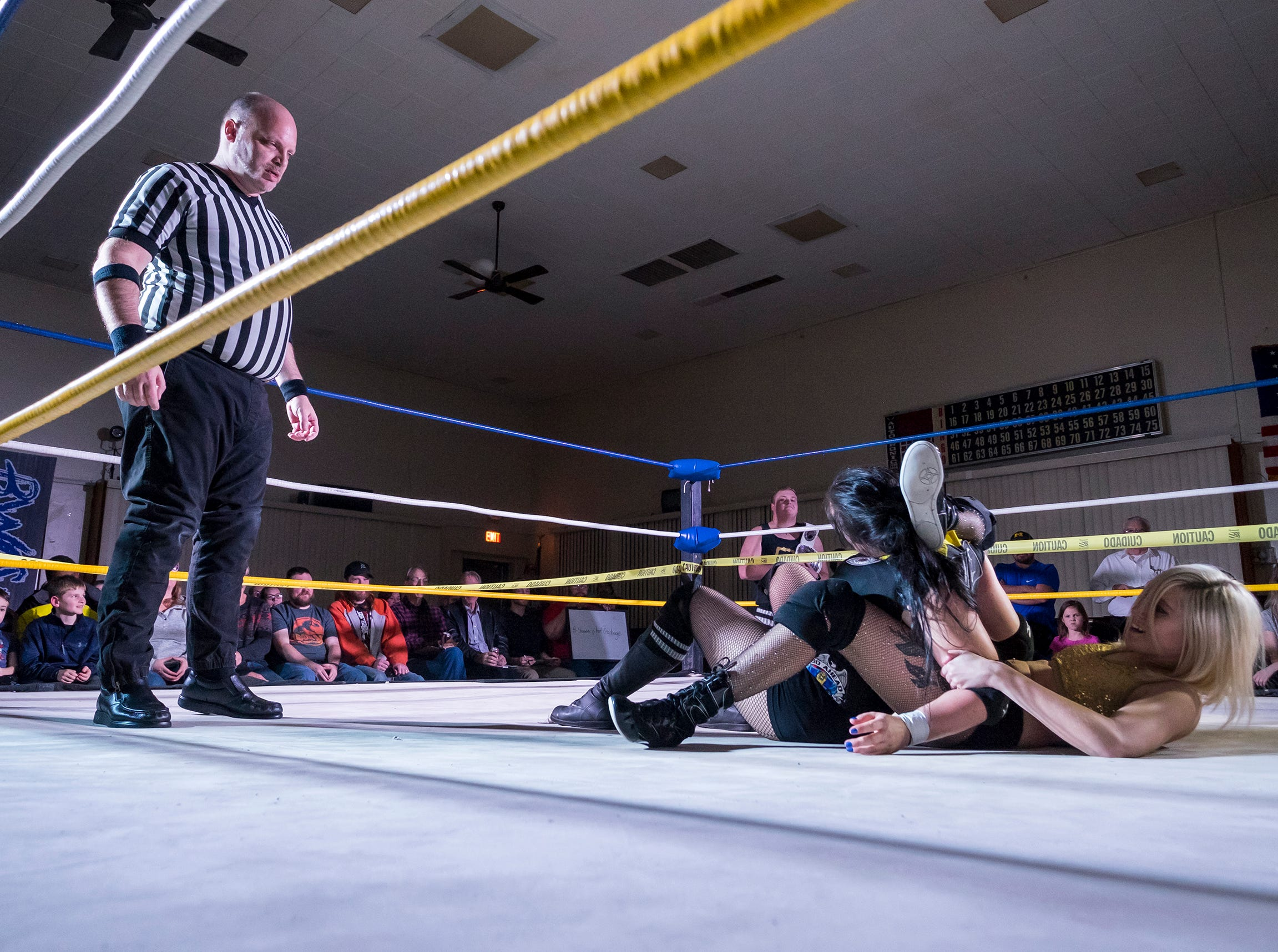 Wrestlers compete in the third annual Blue Water Championship Wrestling Headlock on Hunger charity benefit Saturday, Dec. 29, 2018 at American Legion Post 8 in Port Huron.