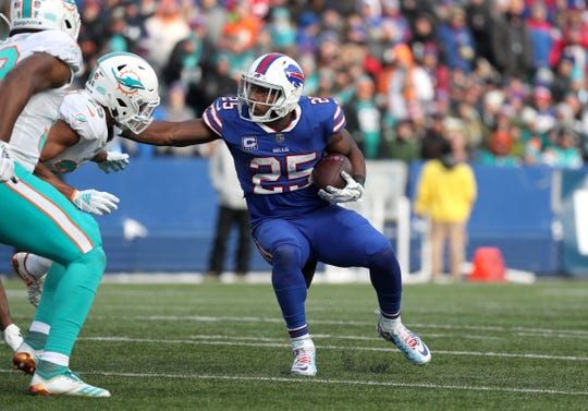 Bills running back LeSean McCoy rushed for 26 yards and a touchdown against the Dolphins.