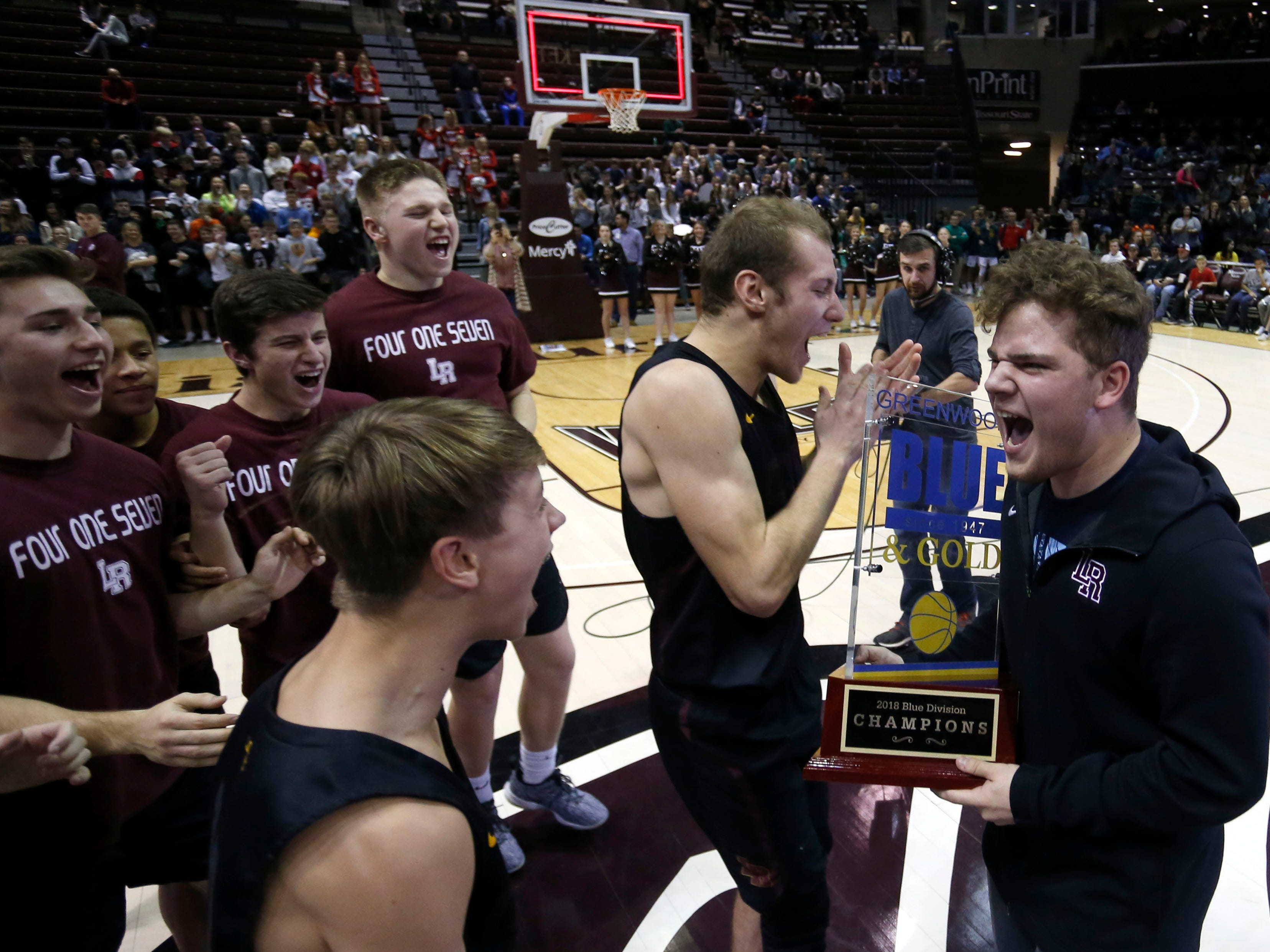 The Parkview Vikings take on the Logan-Rogersville Wildcats in the championship Blue Division game during the 2018 Blue and Gold Tournament at JQH Arena on Saturday, Dec. 29, 2018.