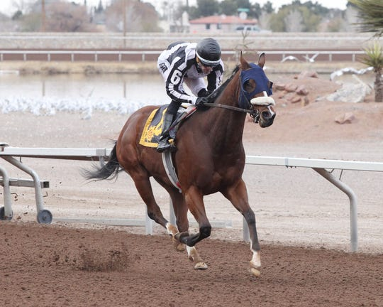 Hardcore Troubador won the 5 furlong KLAQ Handicap Saturday at Sunland Park Racetrack & Casino.