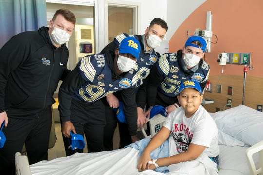 The Pittsburgh Panthers football team visits the El Paso Children's Hospital, December 30, 2018, in El Paso, TX. Photo by Ivan Pierre Aguirre/Sun Bowl Association
