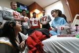 Stanford Visits Providence Children's Hospital Ahead of Hyundai Sun Bowl