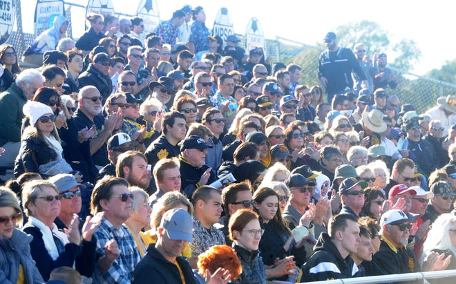 Hundreds attended a tribute to George Hurley at Newbury Park High on Saturday.