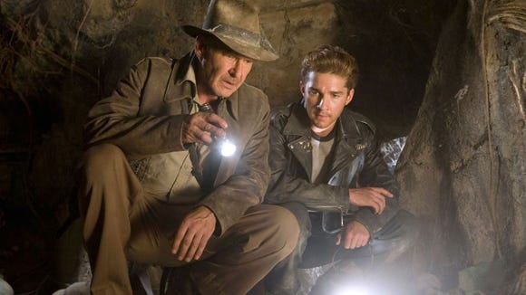 """Indiana Jones and the Kingdom of the Crystal Skull"" stars Harrison Ford and Shia LaBeouf."