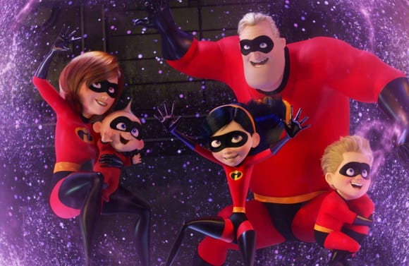 "Violet protects the family with a super force field in ""The Incredibles 2."""