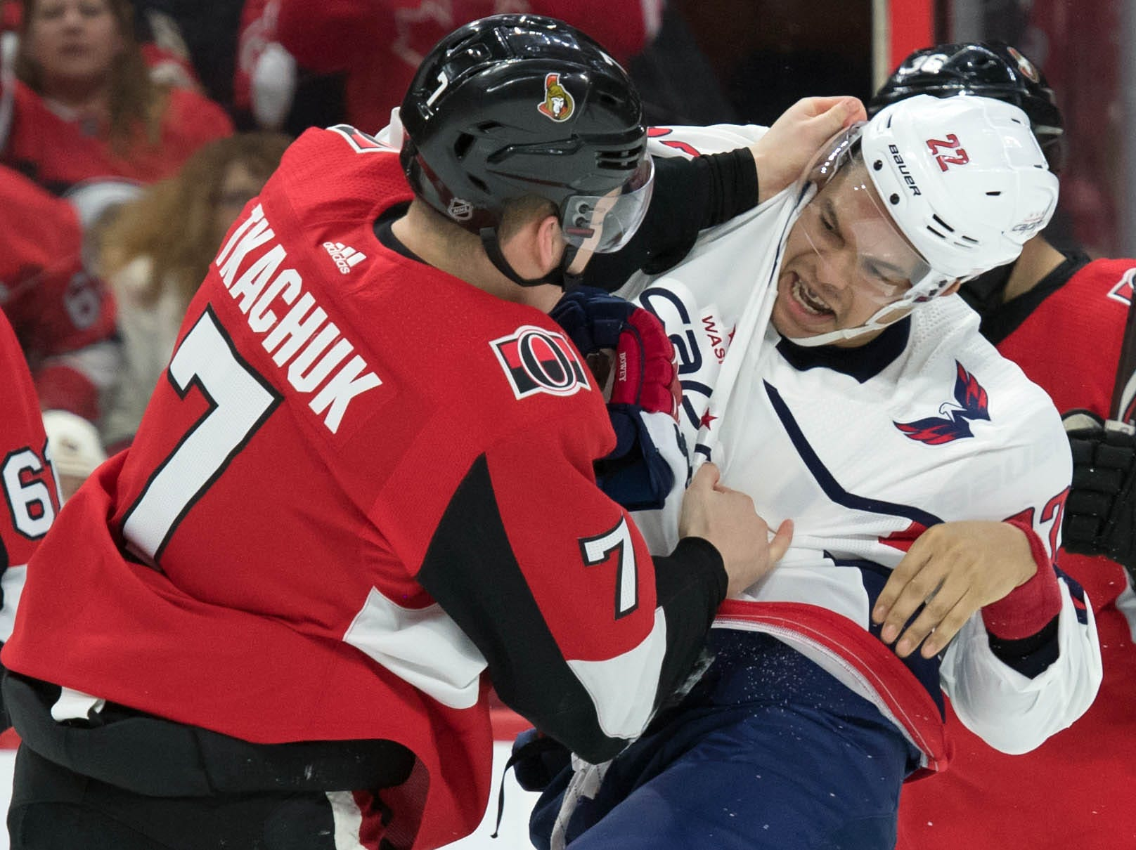 Dec. 29: Ottawa Senators' Brady Tkatchuk vs. Washington Capitals' Madison Bowey.