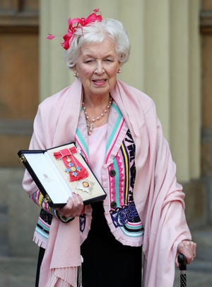 """British actress and comedic star June Whitfield, whose long career included memorable roles in TV series """"Absolutely Fabulous """"and """"Terry and June,"""" has died. She was 93."""