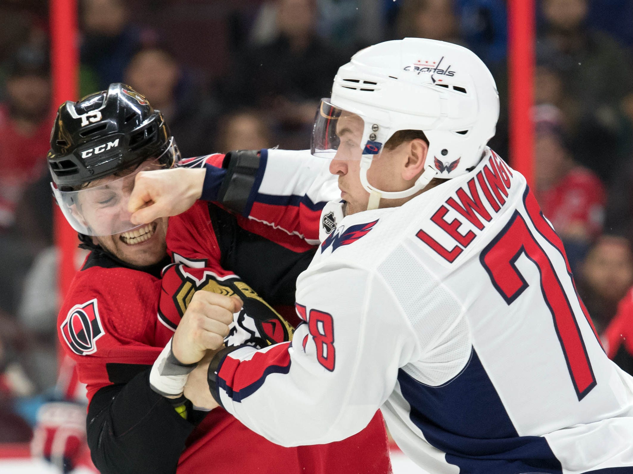 Dec. 29: Ottawa Senators' Zack Smith vs. Washington Capitals' Tyler Lewington.
