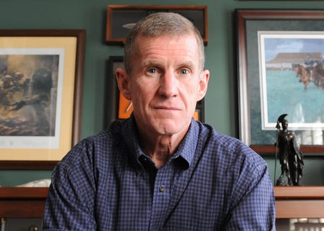 """Retired Army Gen. Stanley McChrystal said he believes President Donald Trump is """"immoral"""" and doesn't """"tell the truth"""" in an ABC interview on Dec. 30, 2018."""