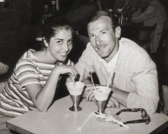 Toby and Barry Grabelle in 1959, the year he opened his practice in Eatontown.