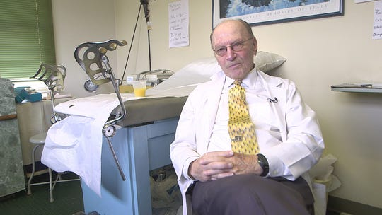 Dr. Barry Grabelle is retiring at the age of 88. He's worked in the same Eatontown location since 1959
