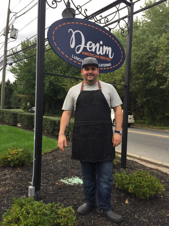 Chef-owner David Murray stands outside Denim American Bistro in Cherry Hill prior to the restaurant's opening last fall.