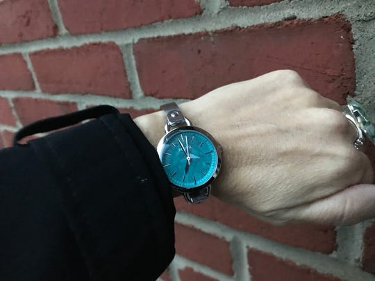 Sneak a peak and make a fashion statement with a stylish wristwatch, or if you want to be tech savvy, the new Fitbits keep track of time and your health.