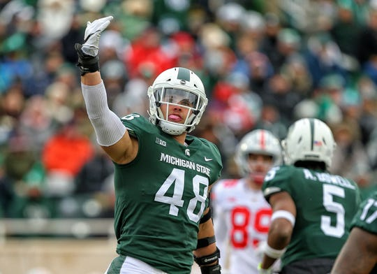 Michigan State defensive end Kenny Willekes helped lead a Spartan defense last year that was ranked No. 1 nationwide against the run.