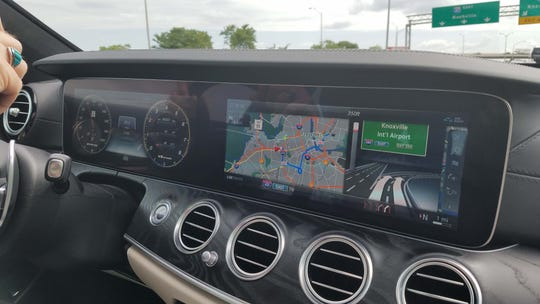 The Mercedes-AMG E63 S wagon boasts the German maker's latest tech, including an integrated instrument and infotanment screen that spans the dash.
