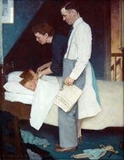 """Norman Rockwell's """"Freedom from Fear,"""" at The Henry Ford."""