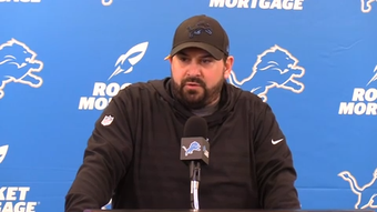 Head coach Matt Patricia speaks on the 2018 season as Detroit Lions players clean out their lockers at the end of a 6-10 campaign.