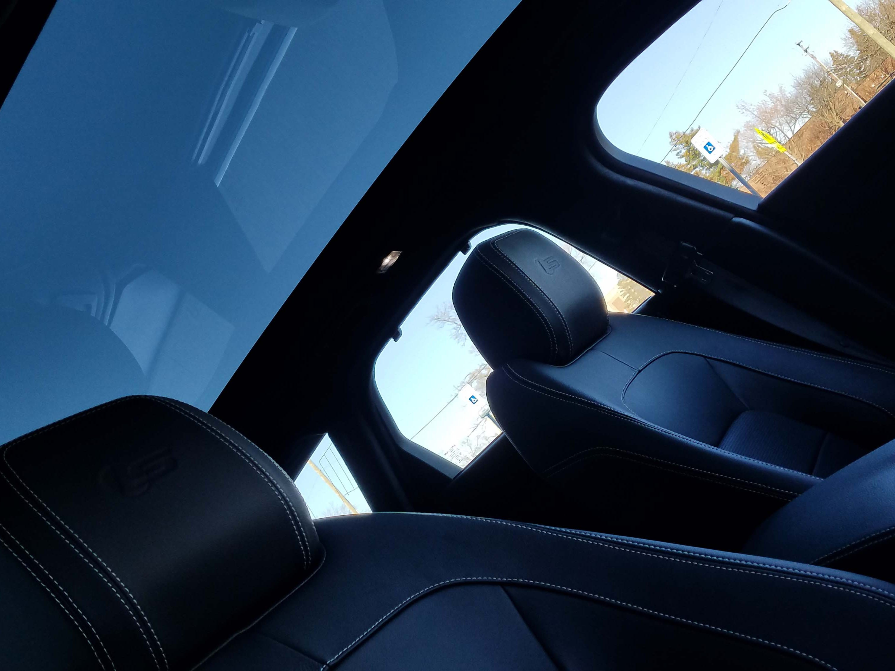 The Jaguar XF Sportbrake comes with a full-length moonroof and comfortable, bolstered seats.