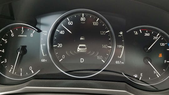 Mazda has adopted Tesla's 360-degree, surround vehicle display. Dubbed i-ACTIVSENSE, it shows you everything going on around your car.