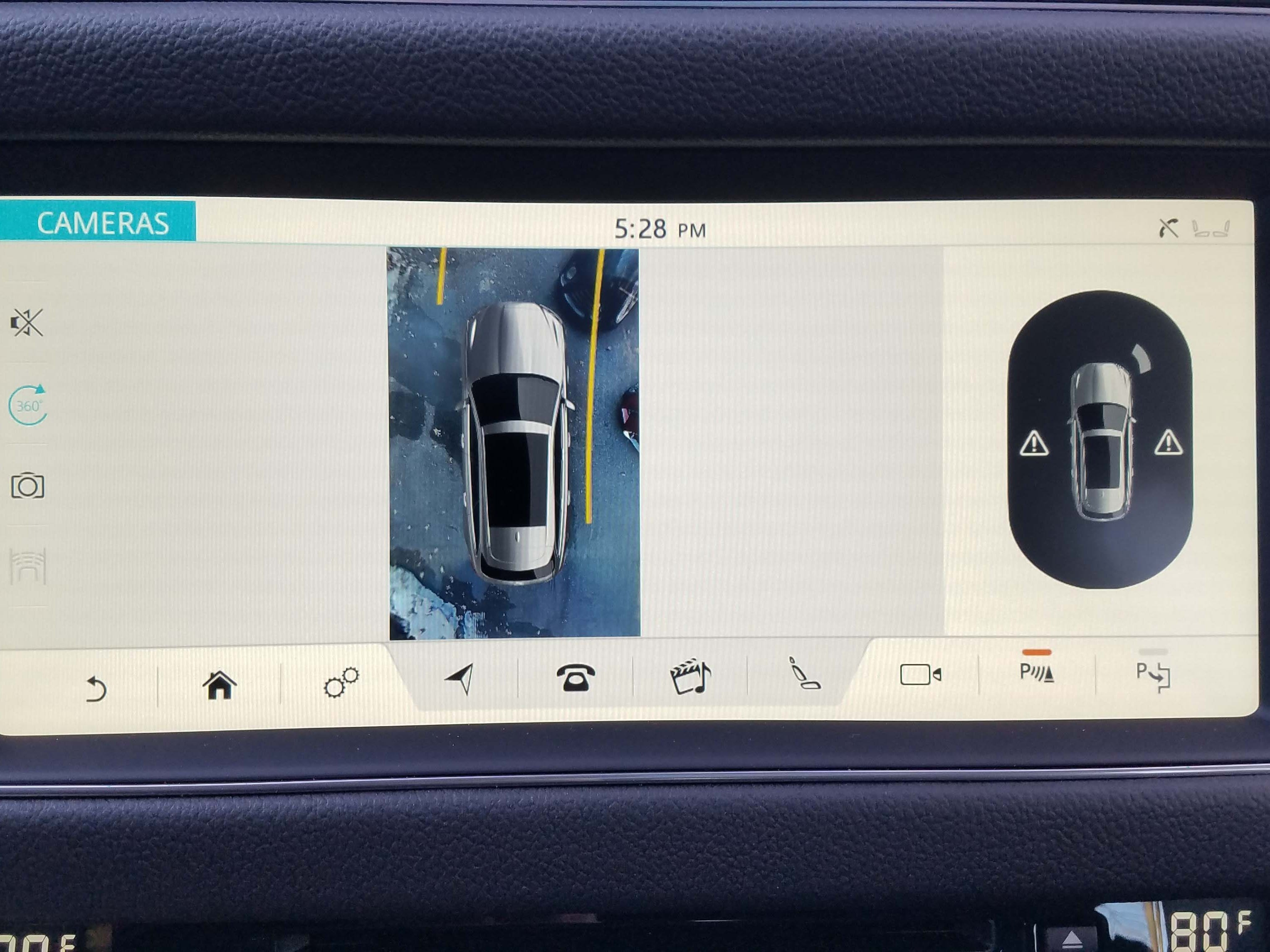 The Jaguar XF Sportbrake features an available 360-degree camera view to better negotiate tight spaces.