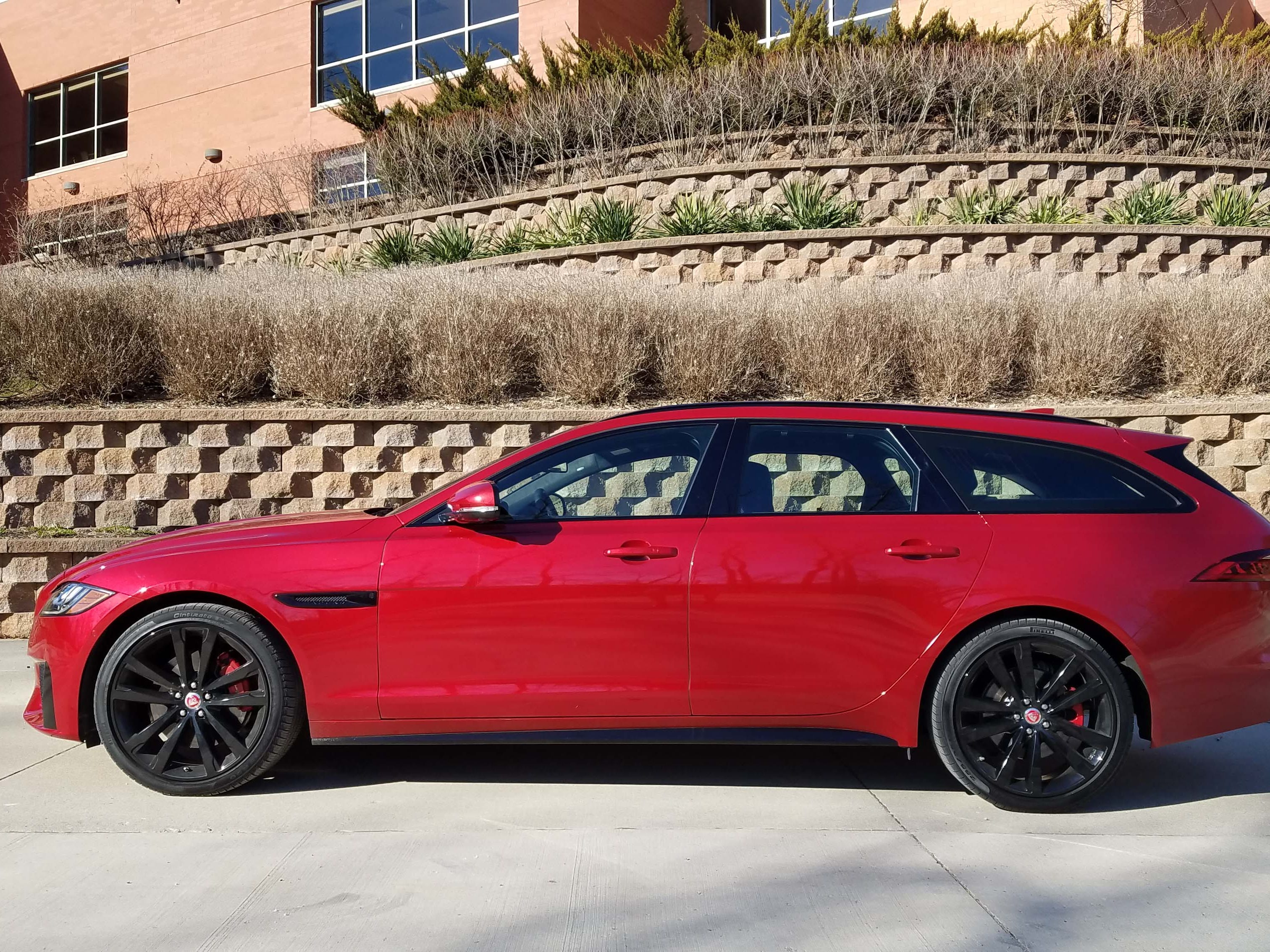 The sleek Jaguar XF Sportbrake is a headturner. While its 380 horses can't compete with the Mercedes' 603, its $84,815 is more palatable than the German's ambitious $140,730.