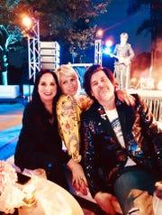 l-r, Karen Jacobson, Roz Jacobson, Todd Skog at MOCAD party