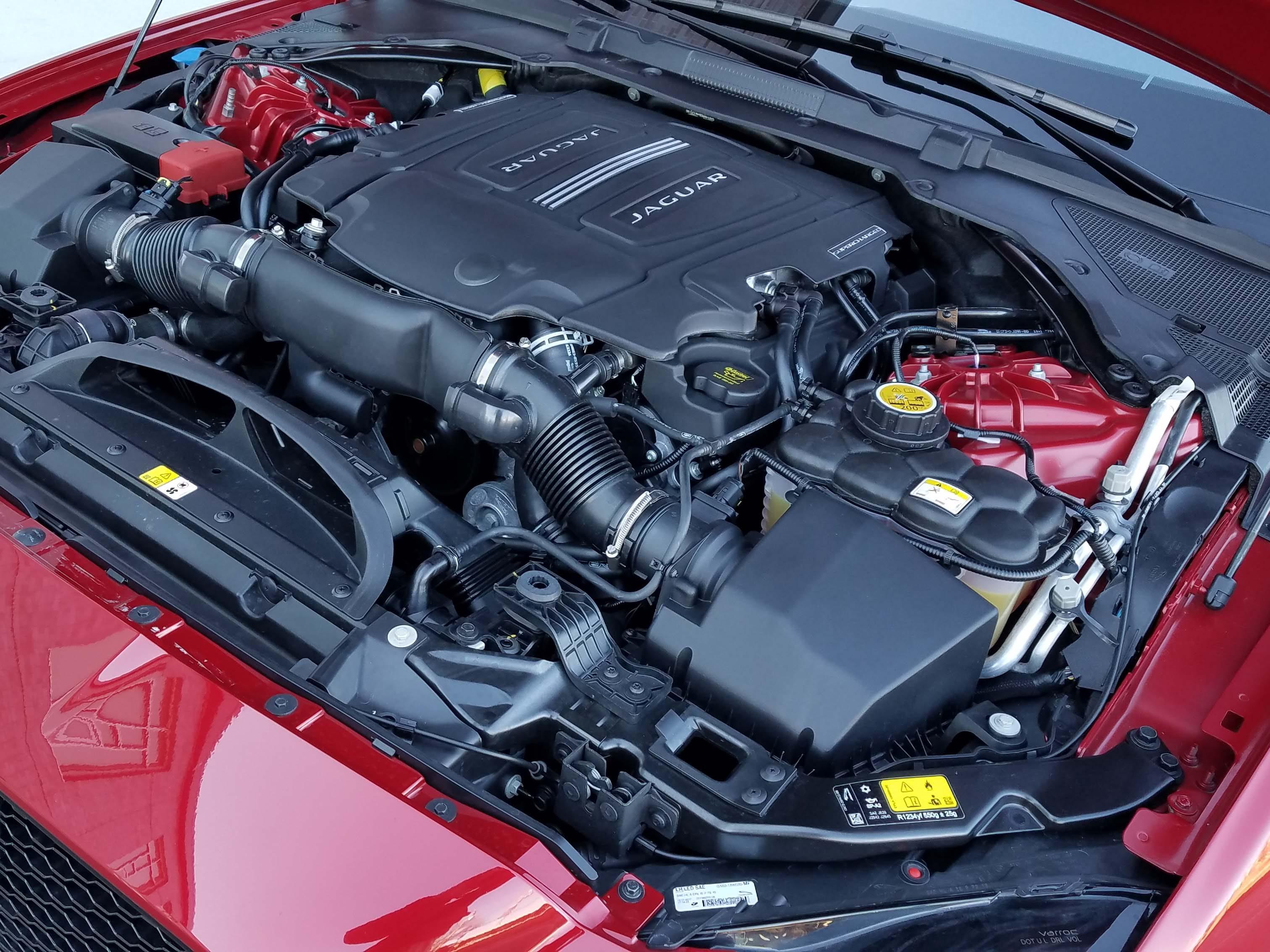 Lotsa oomph. The Jaguar XF Sportbrake packs a supercharged, 3.0-liter V-6 under the hood — good for 380 horsepower.